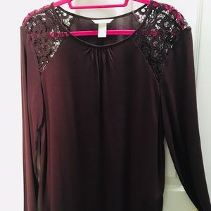 H&M dark purple pullover sweater